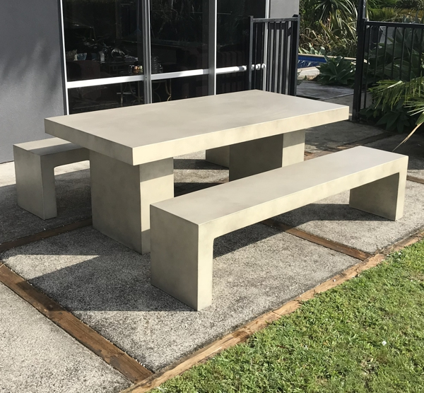 The GRC (Glassfibre Reinforced Concrete) Table U0026 Bench Set Is A Stunning  Contemporary Outdoor Furniture Set That Will Stand The Test Of Time.
