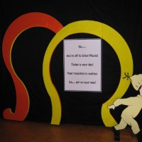 School production Dr Suess arches