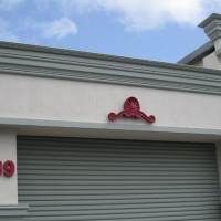 Shapecrete® crest and street number signage
