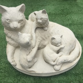 Cat Mother & Kittens CDCT17 - $225.00